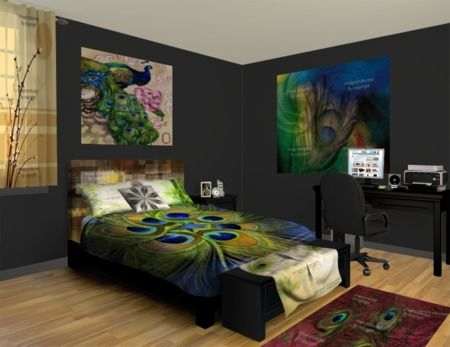 58 best images about peacock bedroom ideas on pinterest for Peacock bedroom ideas