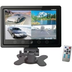 Pyle 7'' Quad Tft Lcd Video Monitor With Headrest Shroud (pack of 1 Ea)
