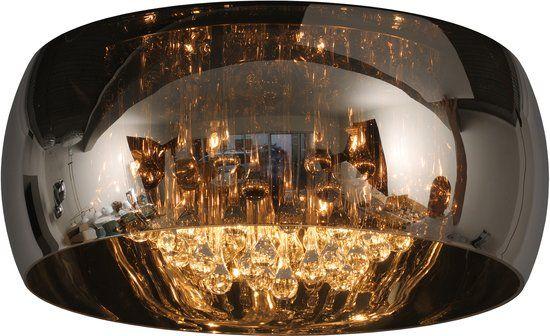 bol.com | Lucide Pearl Plafoniere - Ø  40cm - Rook Glas