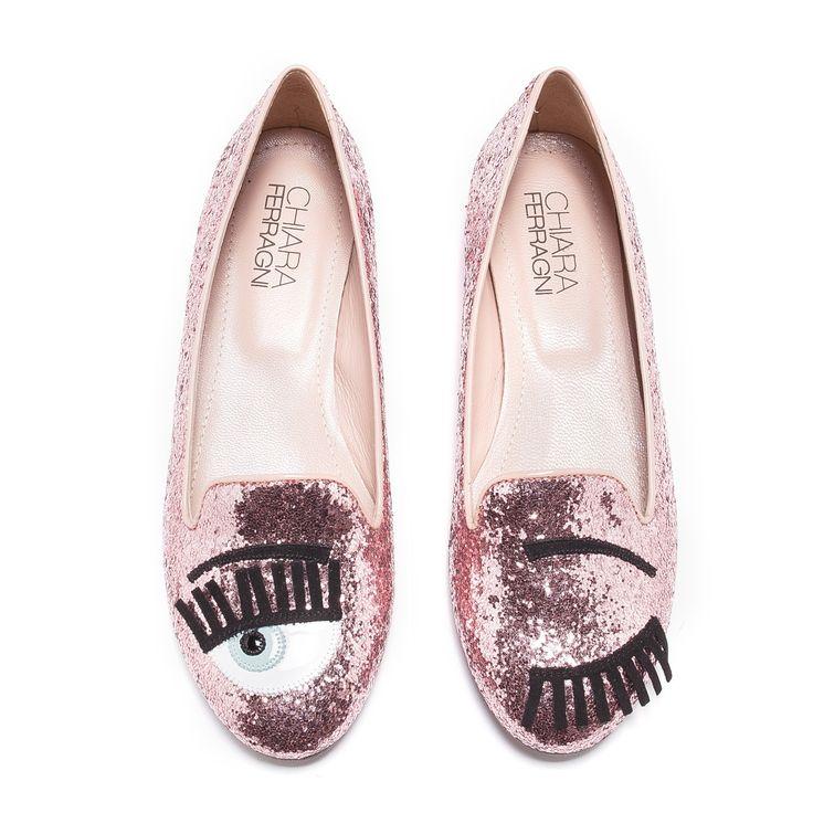 Pink glittered ballerinas Chiara Ferragni yXa79DNV