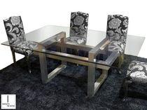 Mesa moderna / de cristal / de interior