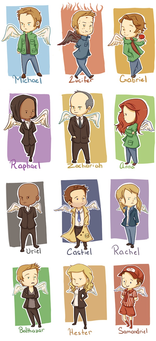 Chibi Supernatural Angels #Supernatural samandriel was always my favorite