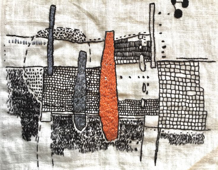 Aideen Canning Hand embroidery on linen