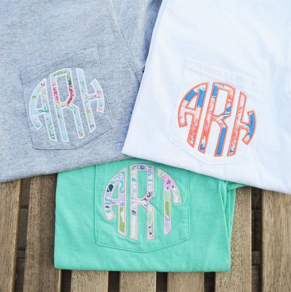 Monogram Pocket Tee monogrammed pocket t by LakesideMonograms