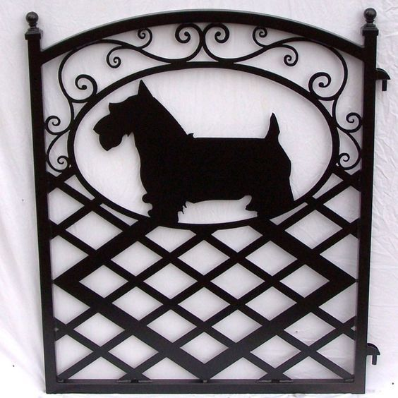 Scotty Dog Fence Gate | Terriers Escoceses, Puertas De Jardín De ...