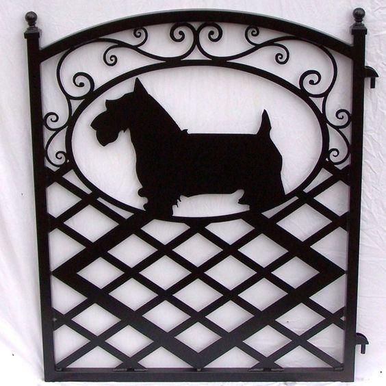 Scotty Dog Fence Gate   Terriers Escoceses, Puertas De Jardín De ...