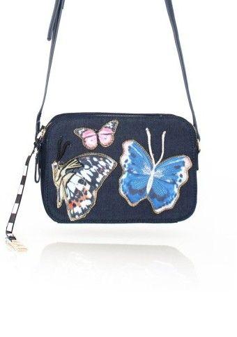 Džínsová kabelka s nášivkami #ModinoSK
