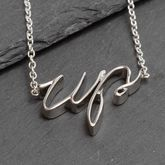 Silver Plated Slogan Up Necklace cheer up necklace gift for her