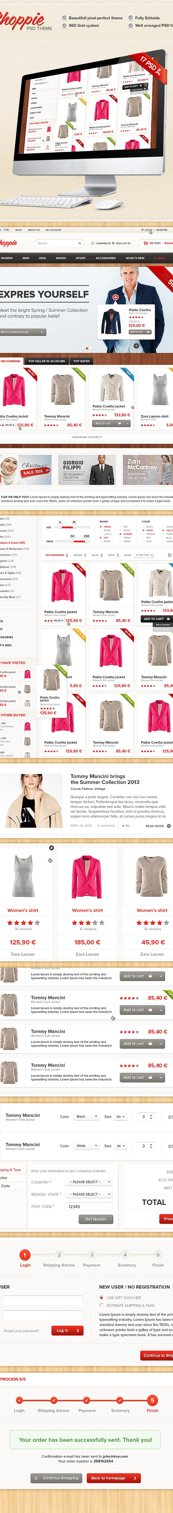 Shoppie - Modern Online Store Web by Viktor Karvai, via Behance