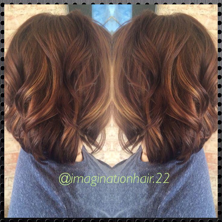 Caramel Balayage Highlights On Short Hair Balayage For