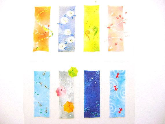 Japanese Stickers  The Four Seasons Cherry by FromJapanWithLove (Craft Supplies & Tools, Scrapbooking Supplies, japan, japanese, kawaii, sticker, japanese stickers, kawaii stickers, traditional japanese, japanese food, fromjapanwithlove, spring stickers, cherry blossoms, fish stickers, flower stickers)