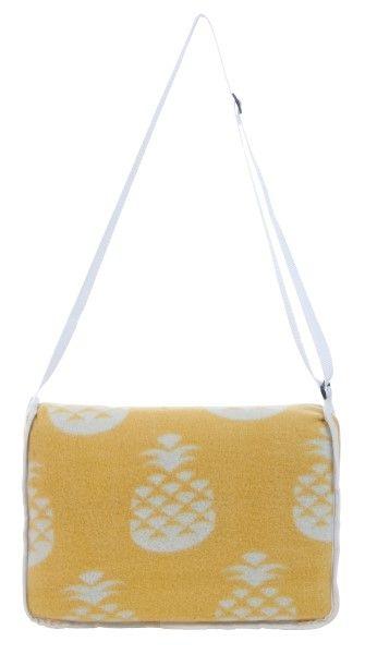 Pineapple picnic rug in yellow