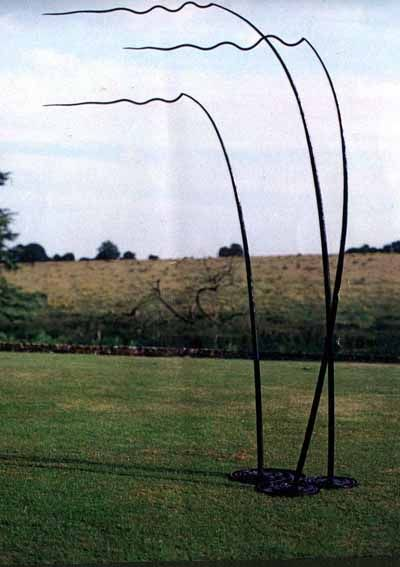 Bronze Abstract Contemporary or Modern Garden / Yard sculpture by artist Tim Fortune titled: 'Wind over Lake (abstract Ripples in bronze sculpture or statue)'