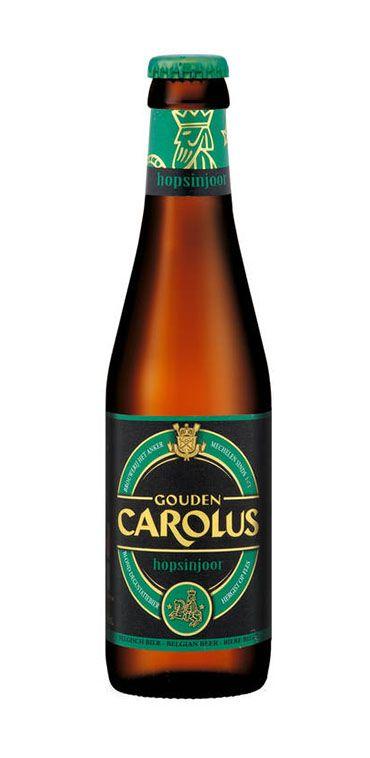 """Gouden Carolus Hopsinjoor vervolledigt het smakenpalet van het gamma Carolus- bieren. """"Hopsinjoor"""" is een verwijzing naar enerzijds de figuur """"Opsinjoor"""" die verweven is met de Mechelse geschiedenis en anderzijds de 5 gebruikte hopvariëteiten. De hoppen worden op verschillende tijdstippen toegevoegd tij-dens het kookproces om een maximaal aroma over te houden. Bierstijl:Blond Alcohol percentage:8% Herkomst, land:Mechelen,België …"""