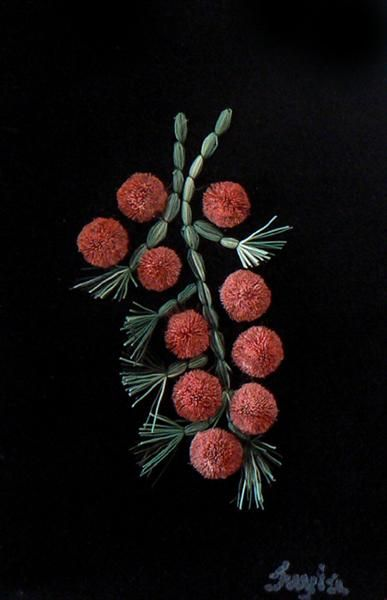 Red Berries - Contemporary Canadian Native, Inuit & Aboriginal Art - Bearclaw Gallery