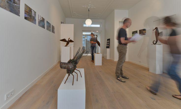 Deze Houtzwagers vloer ligt in een galerie in Utrecht. De eiken multiplanken van 22 cm breed zijn afgewerkt met een natuurlijk ogende olie.