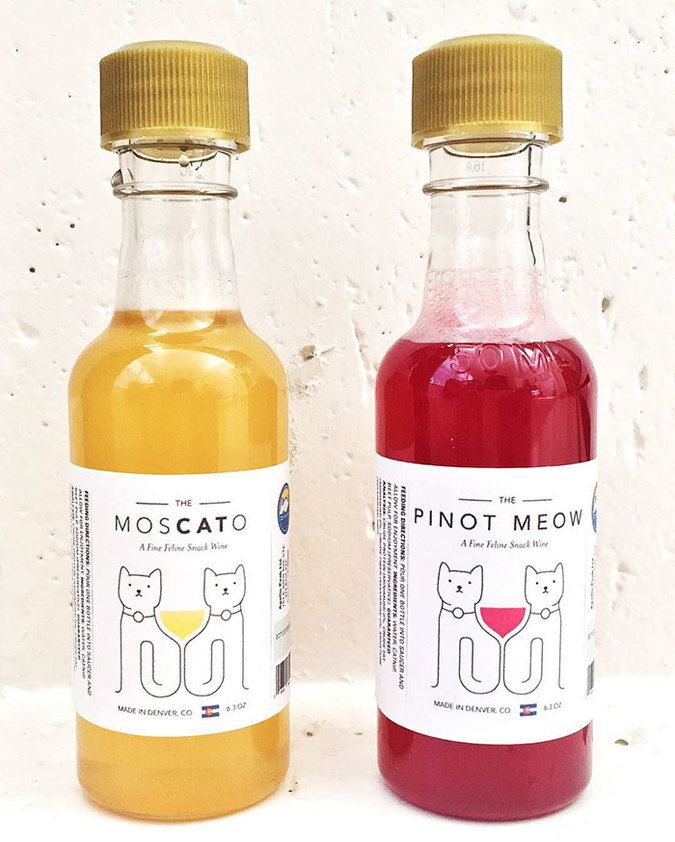 """Apollo Peak: Catnip-based """"wine"""" for cats. Now your cat can also be your drinking buddy!"""