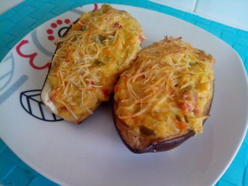 Berenjenas rellenas de verduras para #Mycook http://www.mycook.es/receta/berenjenas-rellenas-de-verduras/