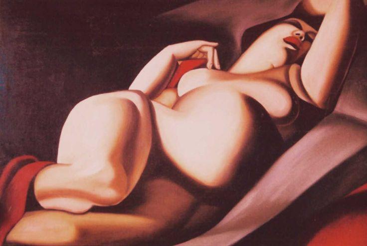 De Lempitka copy oil on canvas