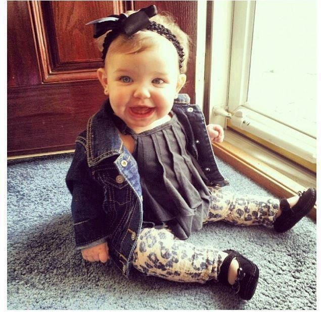 Check out this baby rocking leggings, bows, and a pretty tank top  25 Kids Who Are Way More Fashionable Than The Rest Of Us • BoredBug