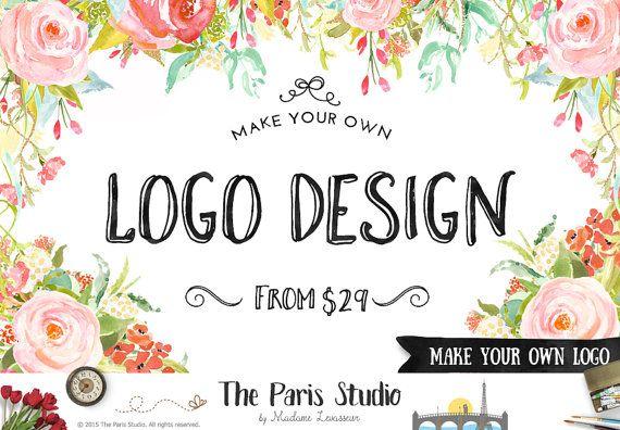 NON Premade Logo Design Make Your Own Logo Design Blog Logo #wordpress Website Logo