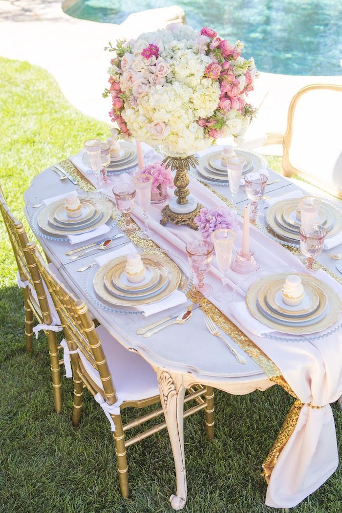 #tablescape Vintage Glam Princess Birthday Party
