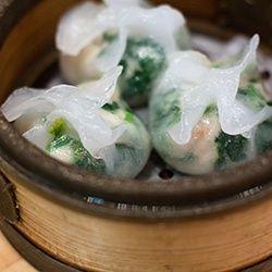 Scallop and leak dumpling