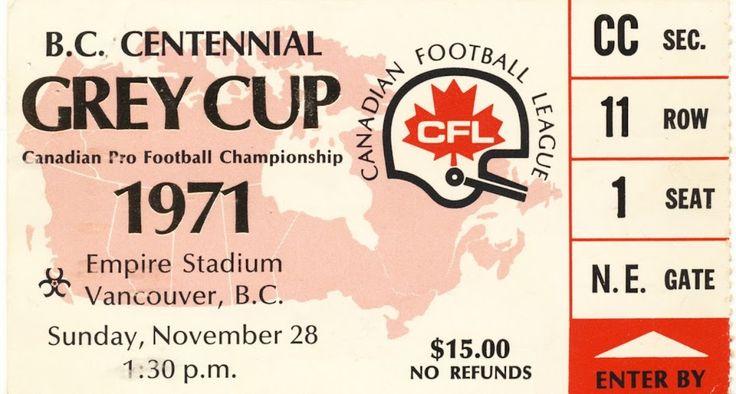 1971 Grey Cup (Empire Stadium, Vancouver)