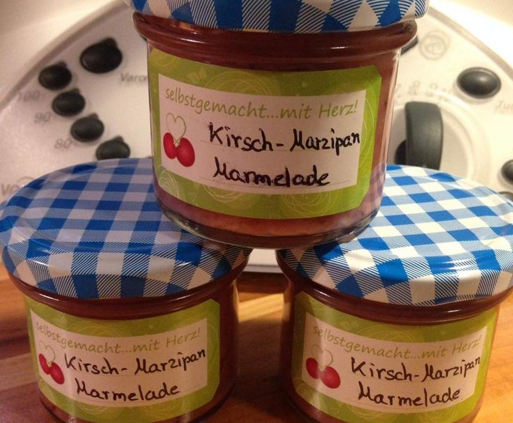 """Rezept Kirsch-Marzipan Marmelade """"kleine Portion"""" von Firstclass911 - Rezept der Kategorie Saucen/Dips/Brotaufstriche"""