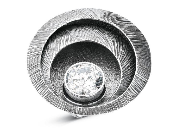 Pierścionek srebrny z cyrkonią - wzór AP120-8928 / Apart