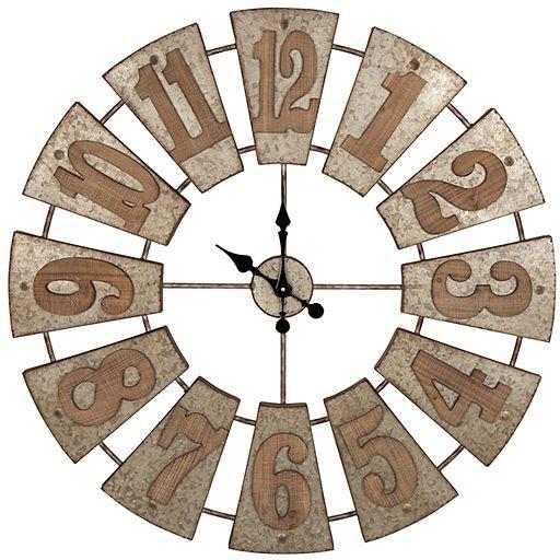 Pretty Farmhouse metal oversize wall clock that looks like a windmill! (affiliate link)