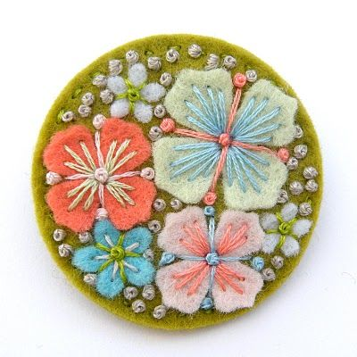 Beautiful felt & embroidery - other lovely items available from Applique Originals