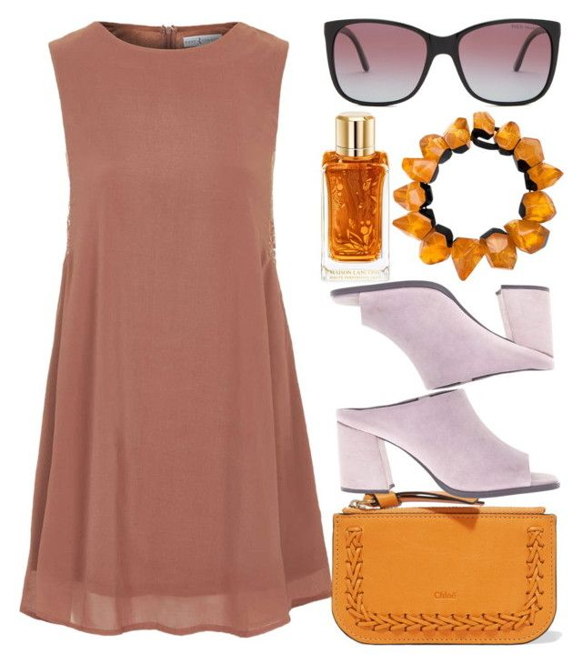 """Be The Strange You Wanna Be"" by egordon2 ❤ liked on Polyvore featuring Topshop, Chloé, Lancôme, Monies, Sol Sana and Polo Ralph Lauren"