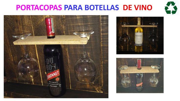 PORTA VINOS CON LISTON DE PALET  / WINE HOLDER