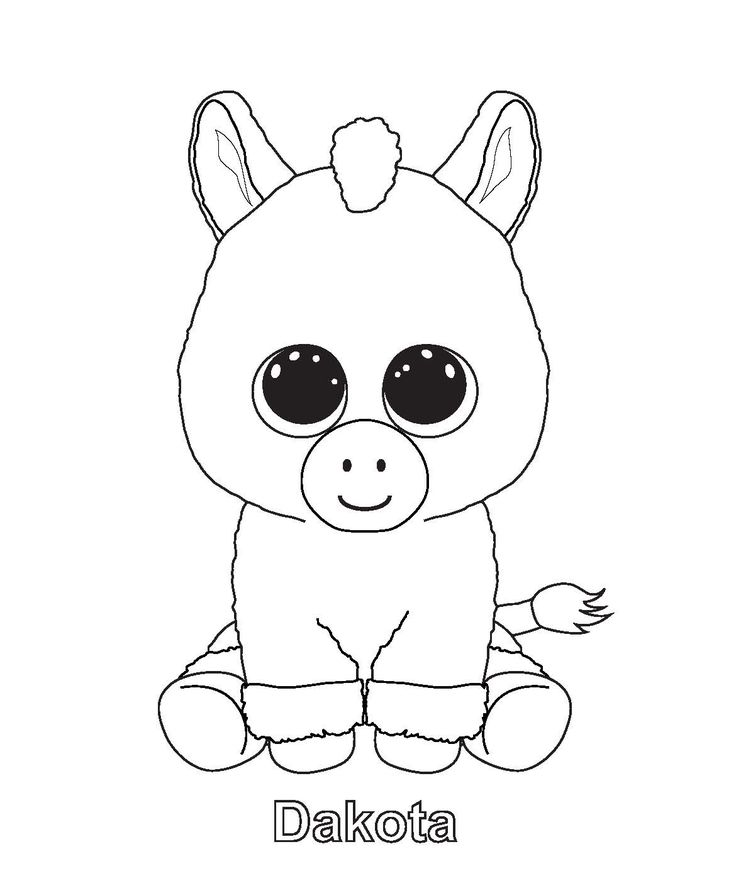 beanie boo colouring pages Beanie Boos Bday Party