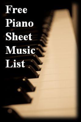 Free Piano Sheet Music List