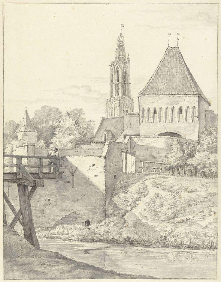Gerrit Lamberts | De Slijkpoort en L. Vrouwentoren te Amersfoort, Gerrit Lamberts, 1786 - 1850 |