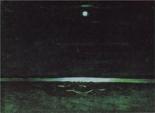 Moonlight Night on the Dnieper - Arkhip Kuindzhi
