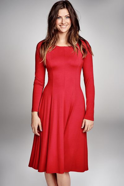 KARMIN ELECTRA happy red #dresses #happy #red #fashion #outfit #classy #riskmadeinwarsaw #reddress #energetic #mididress