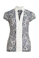 Anna - kanten blouse met parelknoopjes