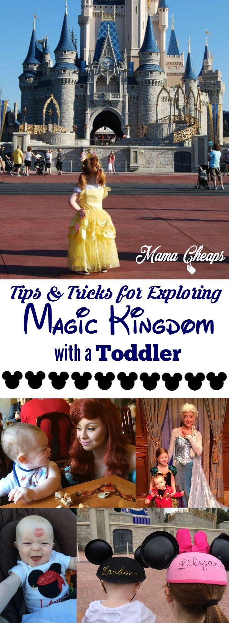 Tips and Tricks for Exploring Disney's Magic Kingdom with a Toddler Find lots of great Disney trip planning info on MamaCheaps.com!