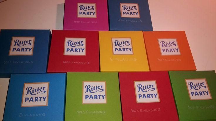 Einladungen zum Kindergeburtstag im Ritter sport Museum mit Besuch der dortigen Schokoladenwerkstatt. .. gibt es in Berlin und Waldenbuch bei Stuttgart; -)