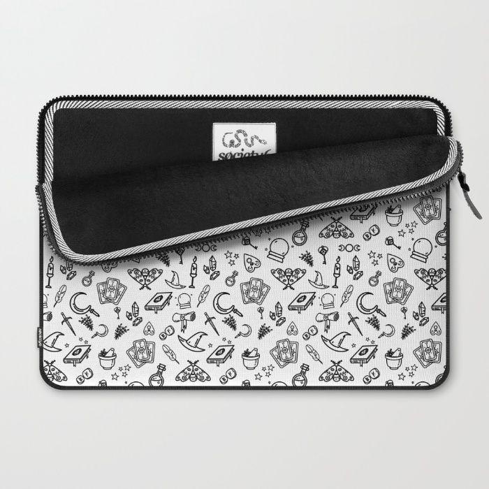 Modern Witch - White Laptop Sleeve by Erika Biro | Society6