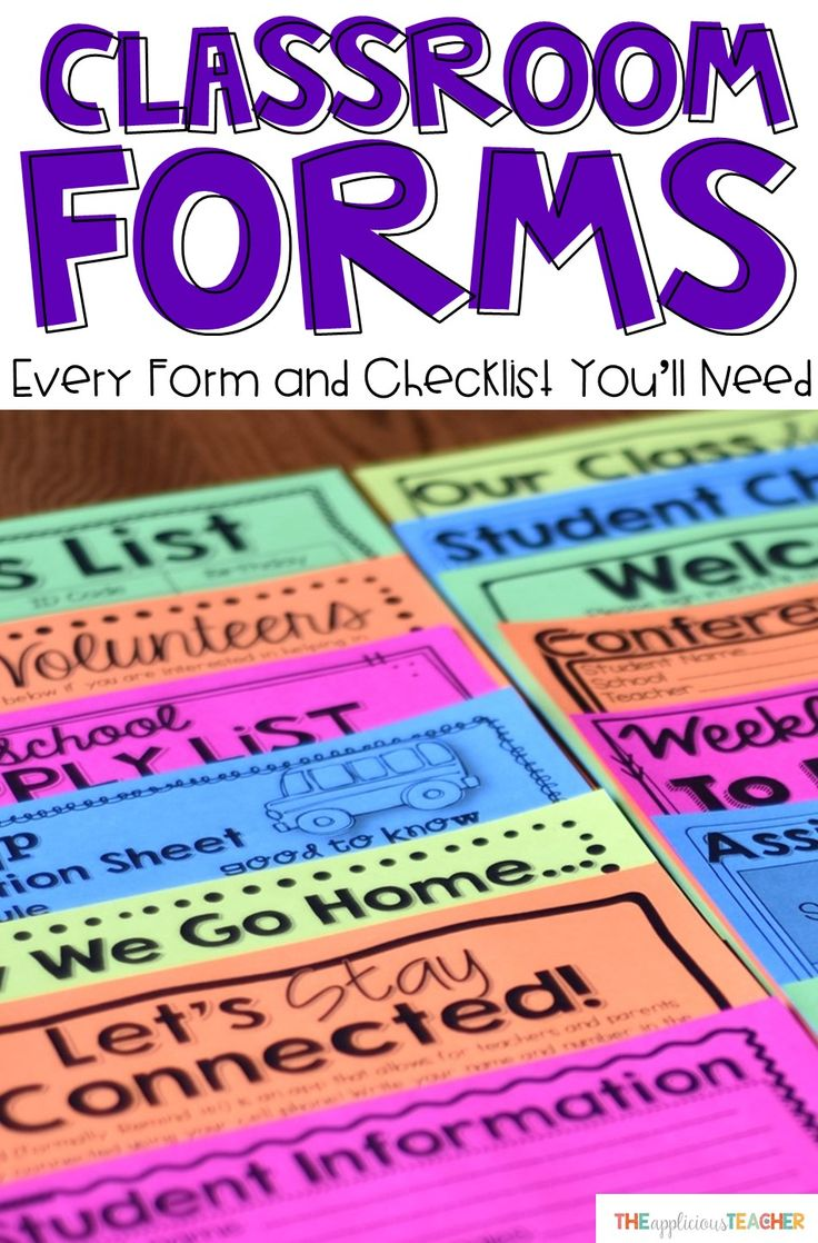 """Every form and checklist you'll need for back to school to the end of the yeat. I like using the student information sheet for """"meet the teacher""""."""