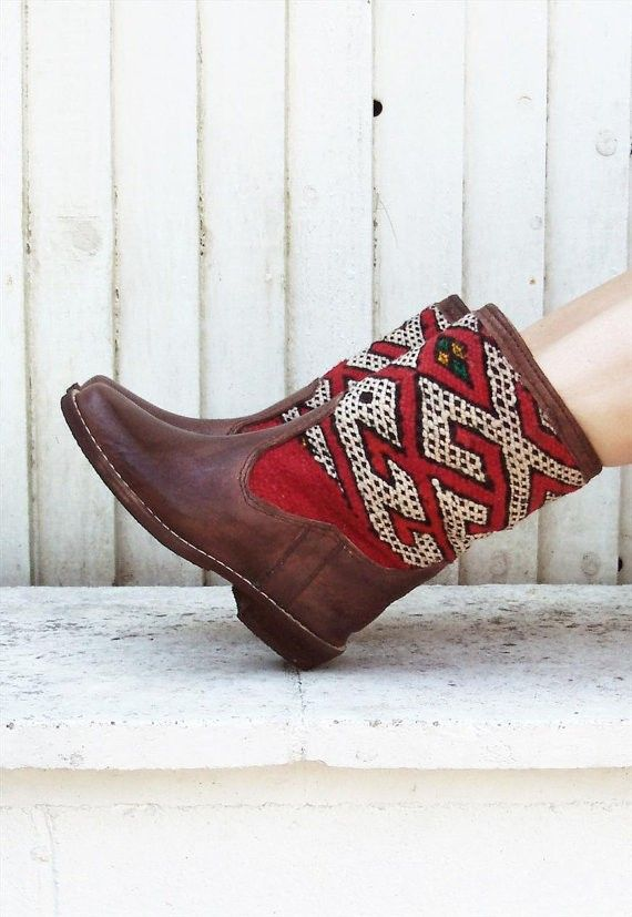 2013 New Aztec Boots - Hand Crafted Leather Boots #aztec #tribal #boots www.loveitsomuch.com