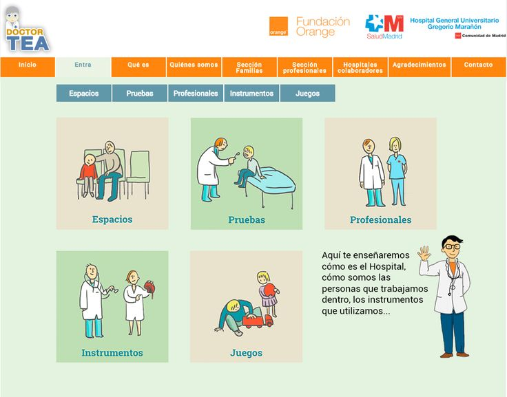 Doctor TEA. es un programa promovido por la Fundación Orange y la Fundación para la Investigación Biomédica del Hospital Gregorio Marañón, pretende facilitar las visitas médicas de las personas con Trastornos del Espectro del Autismo (TEA)http://www.doct. ortea.org/