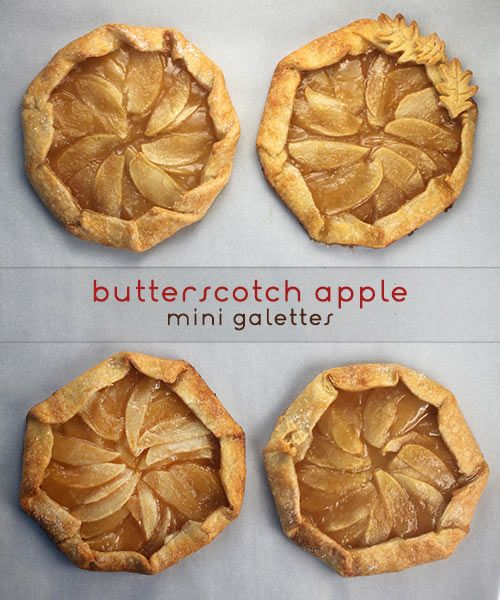 Butterscotch Apple Galettes by Bakerella,