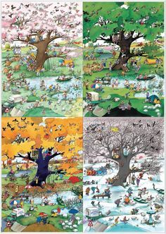 HEYE Blachon 4 seasons Jigsaw Puzzle (2000)