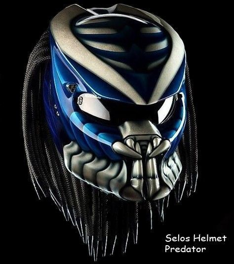THE NEW PREDATOR HELMET MOTORCYCLE STYLE DOT APPROVED  #CELLOS