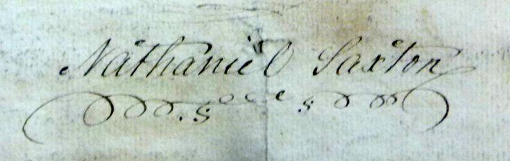 Signature of Nathaniel Saxton